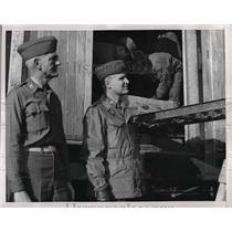 1932 Press Photo Quartermasters in Korea, Col D Healy, Lt Col S Gillette