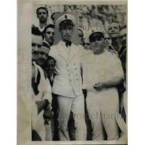1933 Press Photo Cuban Angel R Gonzalez & Sgt Toribio Hernandez