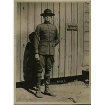 1918 Press Photo Capt. Wickersham training at Camp Wadsworht, Spartansburg, S.C.