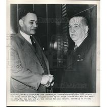 1951 Press Photo N. Leon Jouhaux of France, Winner of Nobel Peace Prize