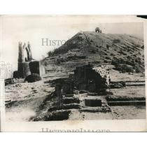 1932 Press Photo Remains of Shivneri Fort 57 miles from Bombay ,India