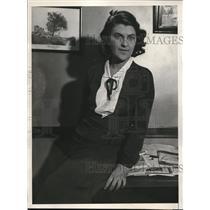1931 Press Photo Theodora Daasi, sec to Count Guzzi-Gradenigo of Italy
