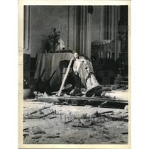 1936 Press Photo Havana Church Wrecked by Dynamite