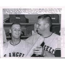 1963 Press Photo Don Lee, Los Angeles Angels Pitcher, Bob Rodgers, Minneapolis
