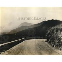 1928 Press Photo Cuban Central Highway in mountainous Oriente Province
