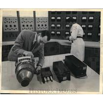 1957 Press Photo westinghouse Electric test generators for new Boeing 707