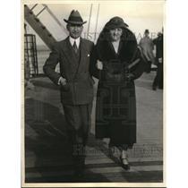 1935 Press Photo Mr & Mrs George Messersmith Minister in Vienna