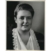 1936 Press Photo Mary Margaret McBride, NBC radio correspondent