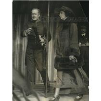 1924 Press Photo Dr JE Hubrecht & Madam Hubrecht Secretary of The Netherlands