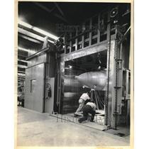 1958 Press Photo Navy Interceptor nose weatherproof end at Westinghouse airport