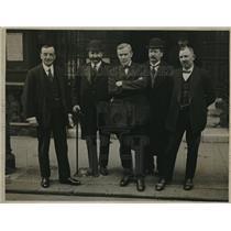 1920 Press Photo Arthur Henderson, William Brace, William Adamson, JH Thomas
