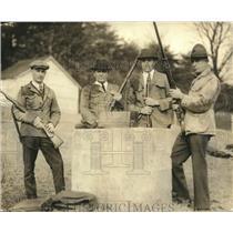 1924 Press Photo Sen. S.W. Brookhart, Iowa with three champion shooters