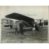 1929 Press Photo Peruvian fliers Capt C de Pinillos & Lt C Eggrerra in NY