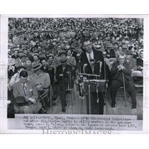 1956 Press Photo Members MS Legislature new Gov James Coleman inaugural address