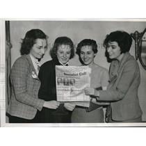 1938 Press Photo Kenosha, Wis. M Backer,K Jones, E Loes, G Milgram,