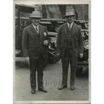 1927 Press Photo Superintendent of Police Michael Crowley & Nephew Paul Crowley
