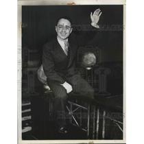 1934 Press Photo Franco Georgetti, Italian Bicycle Star - nec13251