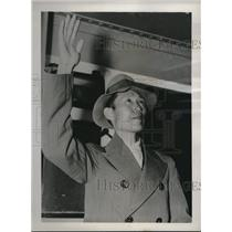 1937 Press Photo Y.K. Chen Leaves Shanghai to Study at University of Illinois