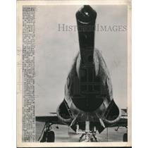 1948 Press Photo Lockheed Shooting Star Air Force Jet With Giant Gun On Nose