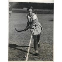 1931 Press Photo Kitty Wiener of Philadelphia Field Hockey Team