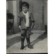 1921 Press Photo Jack Before Being Taken to The Goodwill Stores