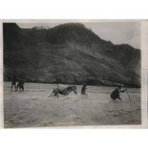 1924 Press Photo Holland Expedition Mr & Mrs Visser Keoft at Fara Foran Mountain
