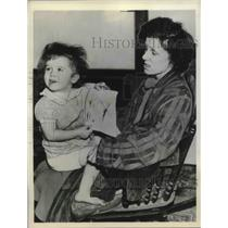 1938 Press Photo Mary Danielson After Being Forced To Watch Baby Starve to Death