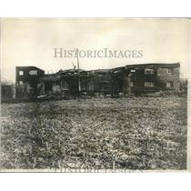 1924 Press Photo Burnt starch house of Pekin, Ill