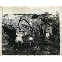 1931 Press Photo Wreckage of plane that crashed in Washington, DC