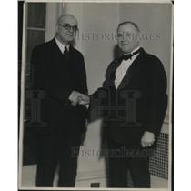 1931 Press Photo William Green of Federation of Labor with Bishop J. McConnell