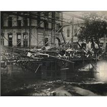 1921 Press Photo Wreckage of Bridge Dusasti
