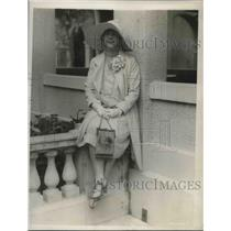 1929 Press Photo Mrs. Earl Deakin at the Breakers Casino in Palm Beach, Florida