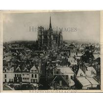 1918 Press Photo Amiens Cathedral In Amiens France - nec12137