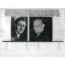 1967 Press Photo Prof. George Porter and Prof. Manfred Eigen Awarded Nobel Prize