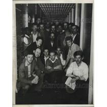 """1934 Press Photo """"Red"""" prisoners in San Francisco City prison want 'square deal'"""
