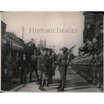 1919 Press Photo Prince of Wales Reviews Guard of Honor at Canadian Pacific Stop