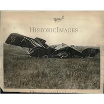 1926 Press Photo Wreckage of a plane that crashed at Weston Flying Field