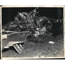 1937 Press Photo TWA airplane crash near Pittsburgh, Pa. Killing 13