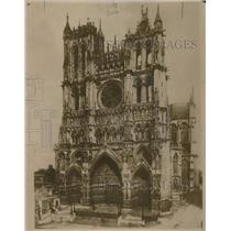 1918 Press Photo Amiens Cathedral in France Might be Targeted by Germans