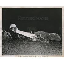 1937 Press Photo Plane piloted by Garland Pack crashed in Louisville, Ky