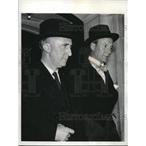 1939 Press Photo Scandanavian Ministers Arrive At Russian Embassy Reception