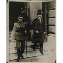 1918 Press Photo Prince of Wales visits American Club in London