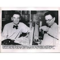 1953 Press Photo Harvard Univ Prof Eritz Lipmann & Dr Hans Adolf Krebs