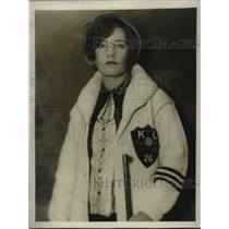 1927 Press Photo Ann Botsford of the Kansas rifle team and Champion