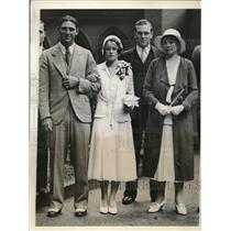 1931 Press Photo Ben and Mrs. Chapman at Wedding