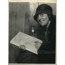 1929 Press Photo Mrs. John Fletcher Planned To Hike Alone Through Africa