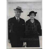 1934 Press Photo Mr & Mrs Barron Collier Boys Scout Executive Returning Europe