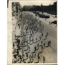 1928 Press Photo a 5K race in Mexico City