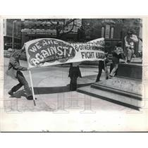 1972 Press Photo Abortion Protest Signs in Cleveland, Ohio