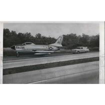 1965 Press Photo F-86-D Sabrejet After Emergency Landing
